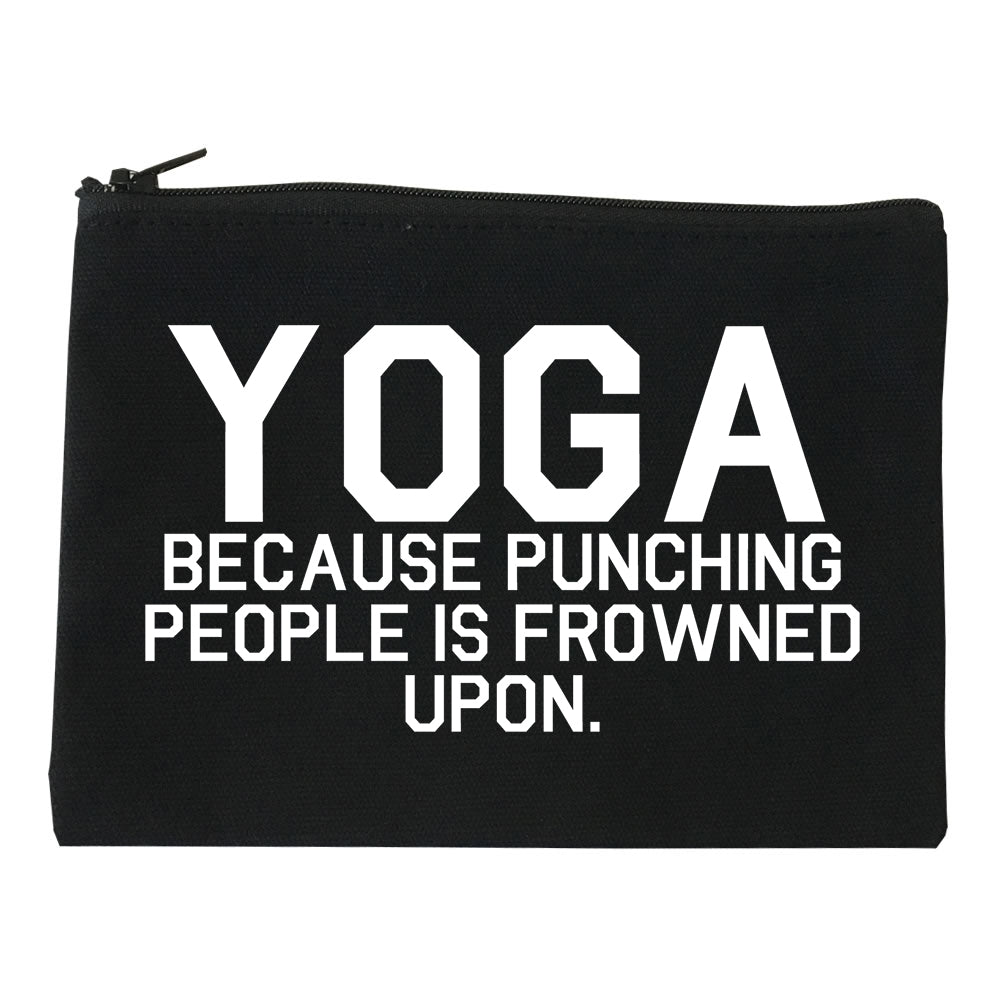 Yoga Because Punching People Is Frowned Upon Makeup Bag Red