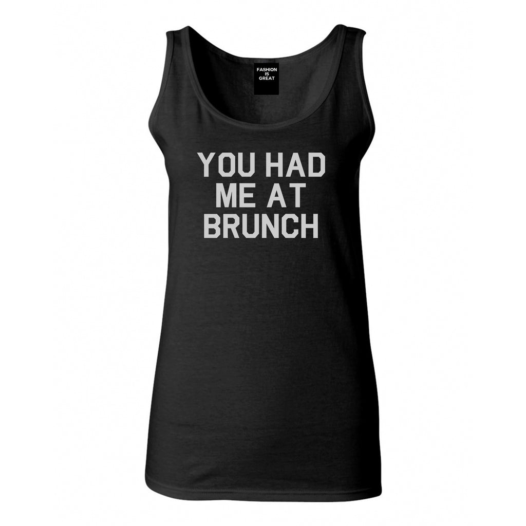 You Had Me At Brunch Food Black Tank Top
