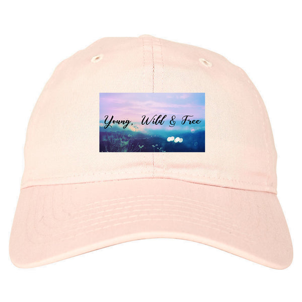 Young Wild Free Spirit pink dad hat