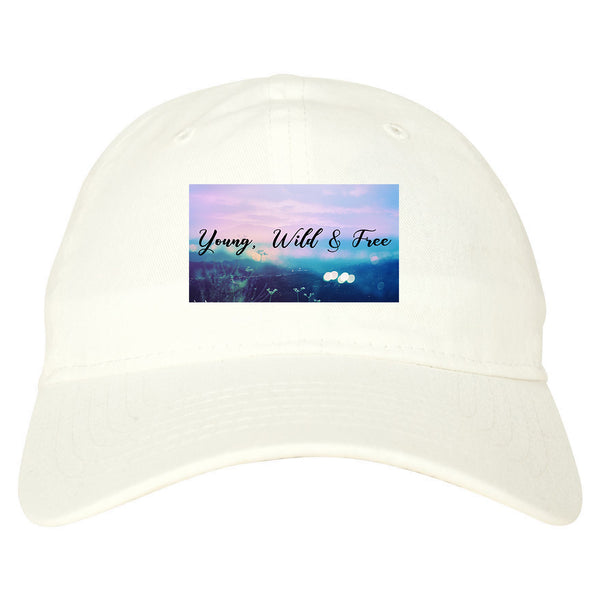 Young Wild Free Spirit white dad hat
