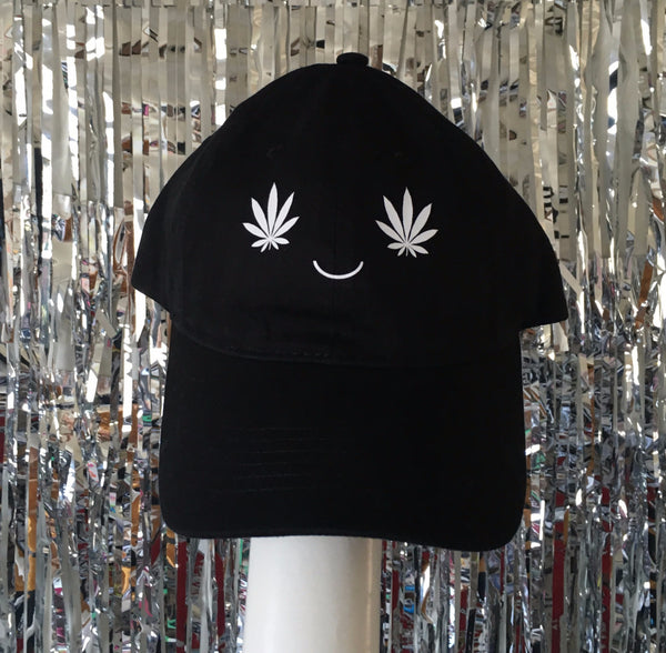 Marijuana Happy Face Dad Hat