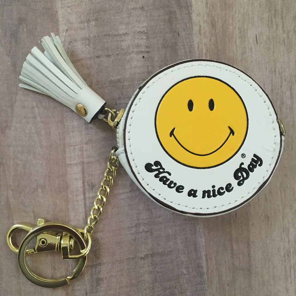 Have a Nice Day Smiley Bag Charm