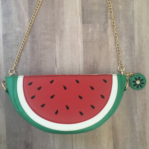Watermelon Slice Crossbody Bag