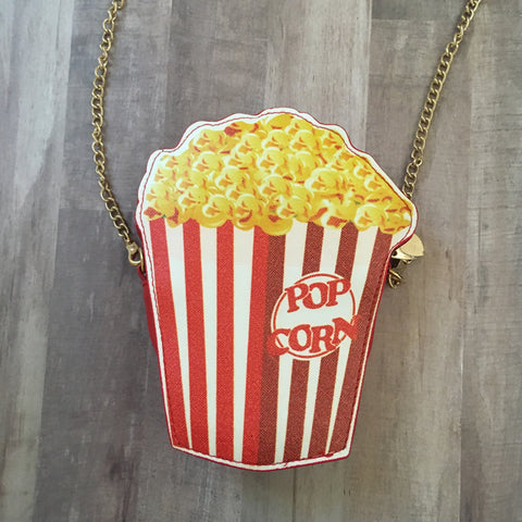 Retro Popcorn Crossbody Purse