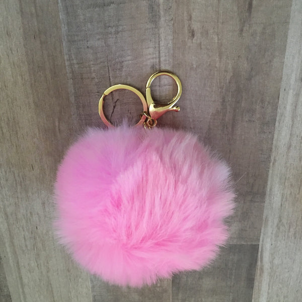 Faux Fur Ball Bag Charm
