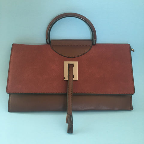 Burgundy Long Envelope Clutch