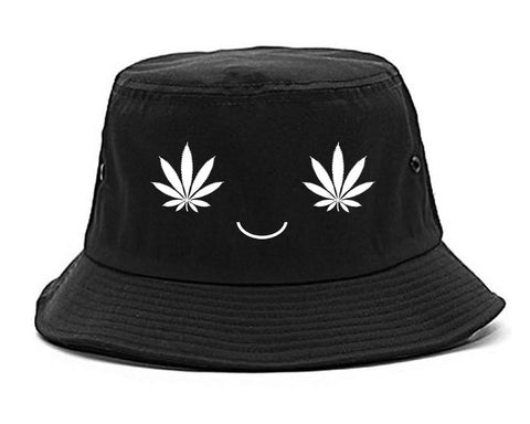 Weed Smiley Face Bucket Hat**sample**
