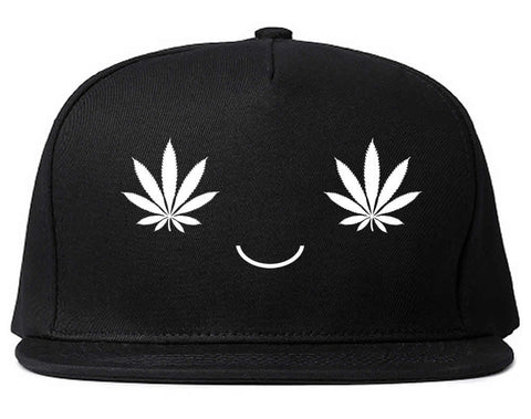 Weed Smiley Face Snapback