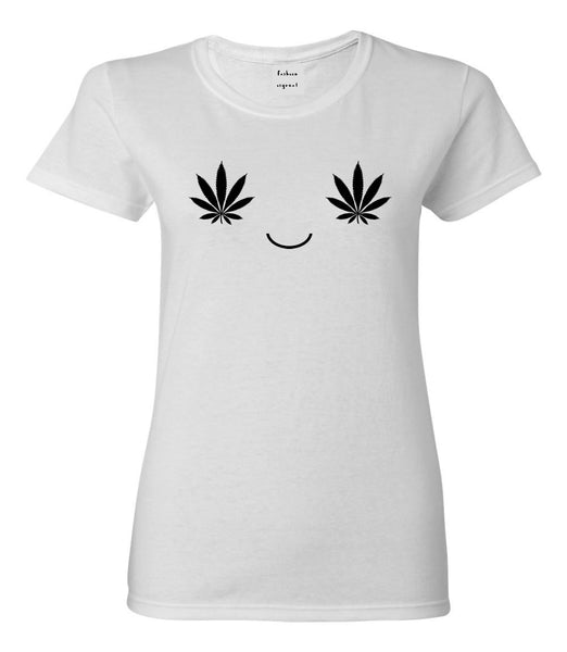 Weed Smiley Face T-shirt