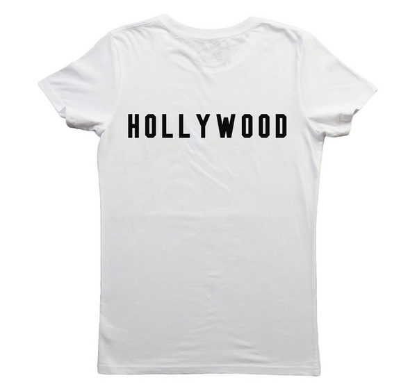 Hollywood Back  Print T-shirt