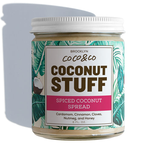 Coconut Stuff - Spiced Coconut Spread - Jar on White