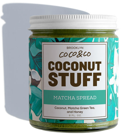 Coconut Stuff - Matcha Spread - Jar on White