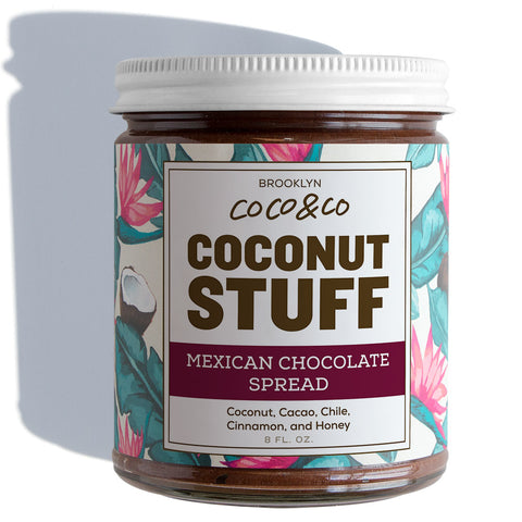 Coconut Stuff - Mexican Chocolate Spread - Jar on White
