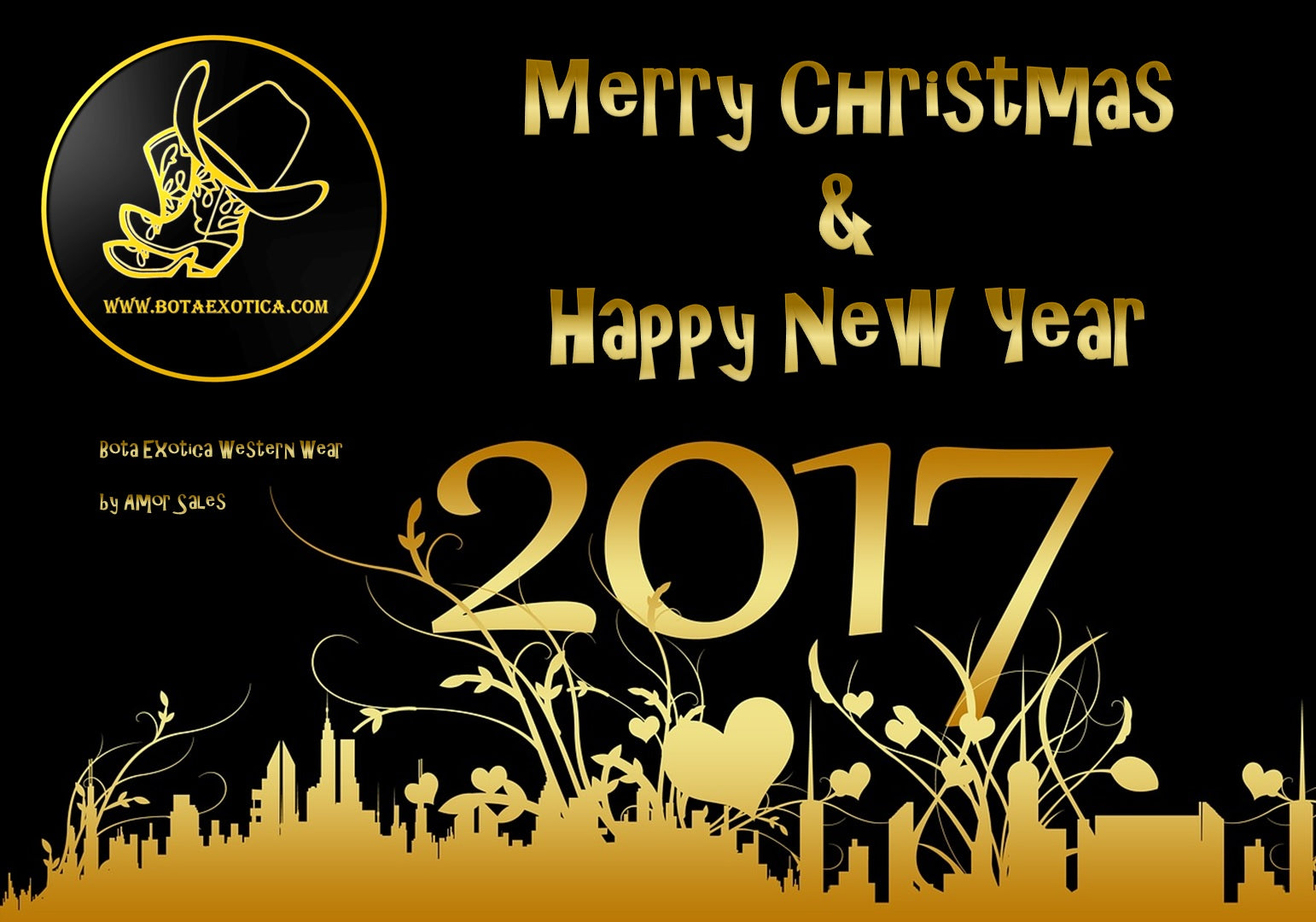 Marry christmas and Happy New Year 2017 - Bota Exotica