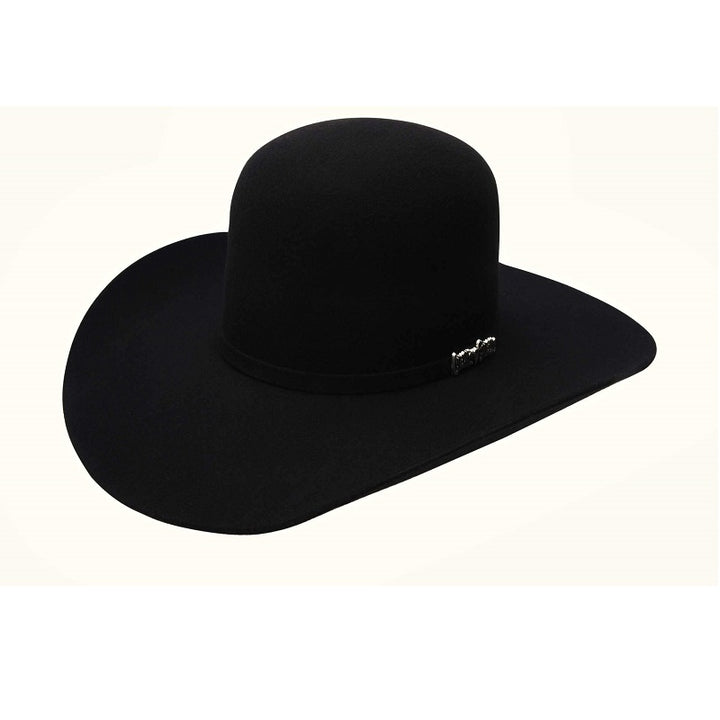 3X Open Crown Black - Texanas para Hombre - Felt Western Hats for Men