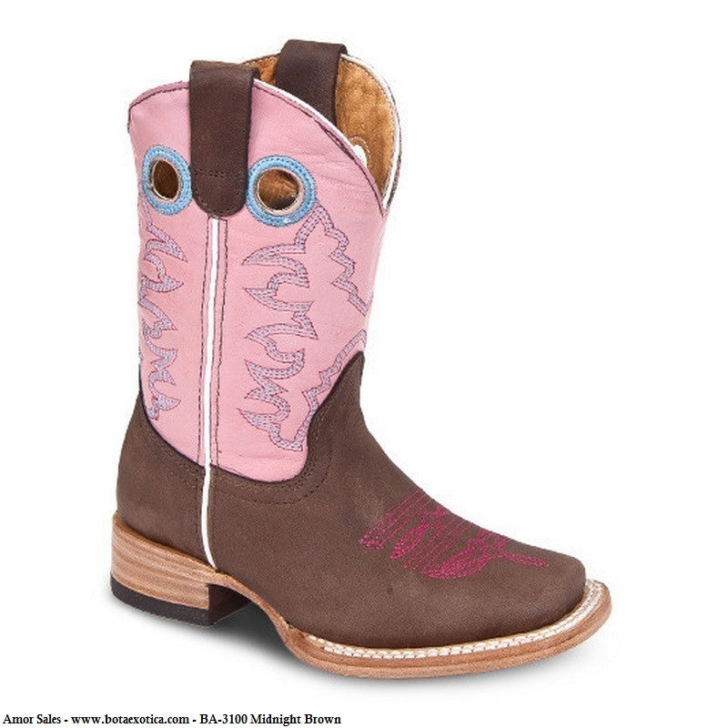 BA-3100 Midnight Brown - Botas Vaqueras para Ninos