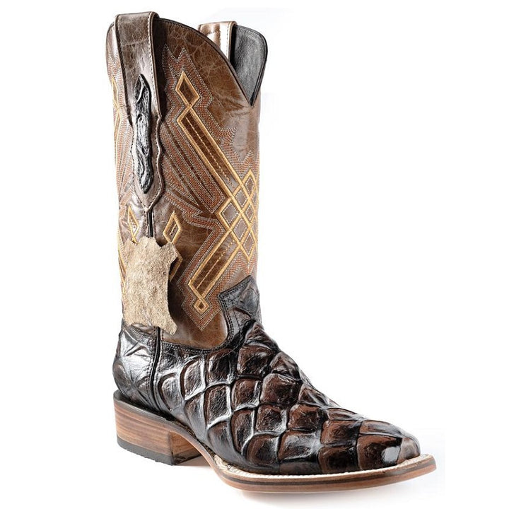 Joe Boots - JB-136 - Brown/Cafe - Exotic Boots for Men / Botas Exoticas Para Hombre -