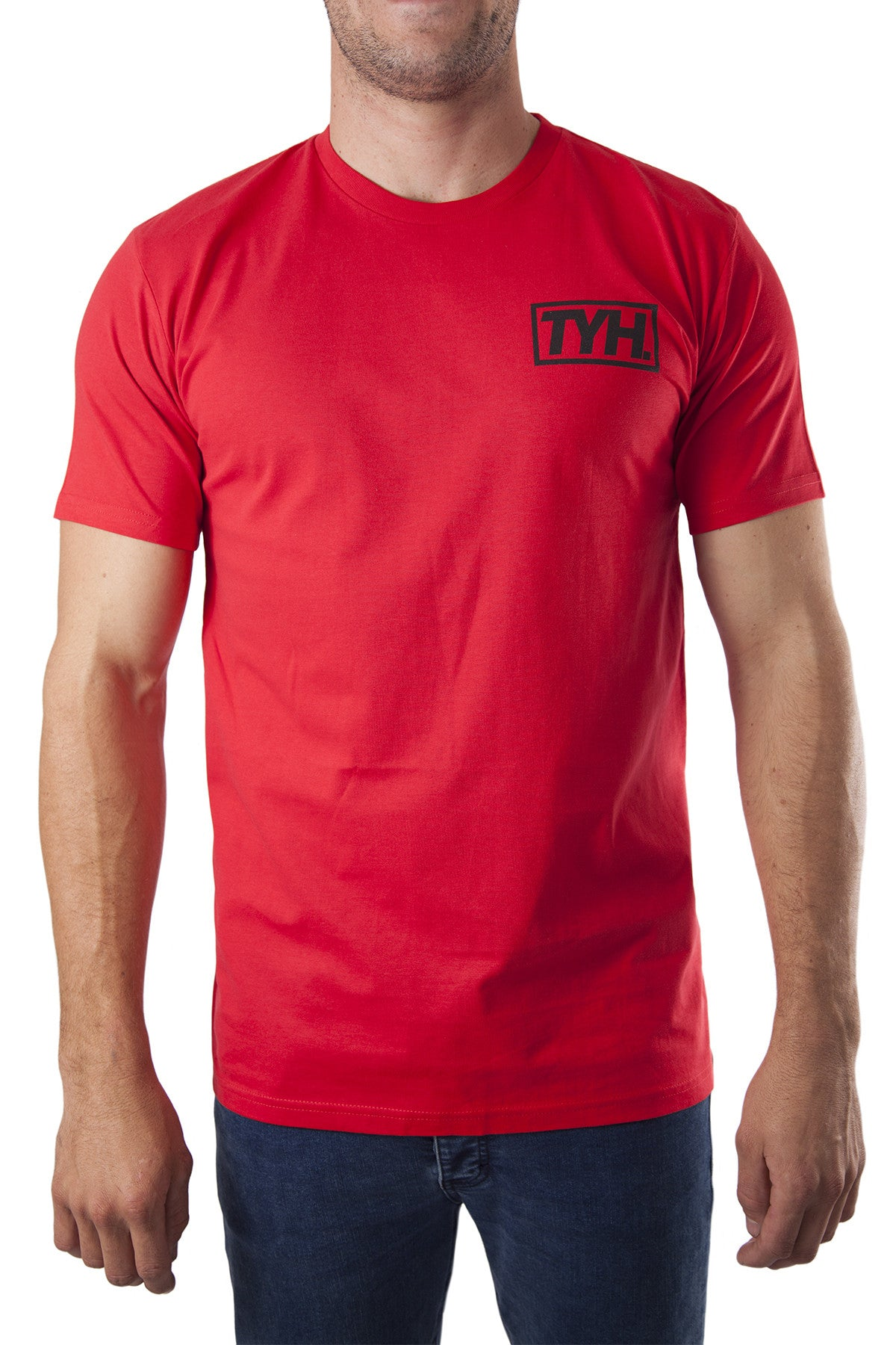 TYH. POCKET LOGO RED TSHIRT TEE