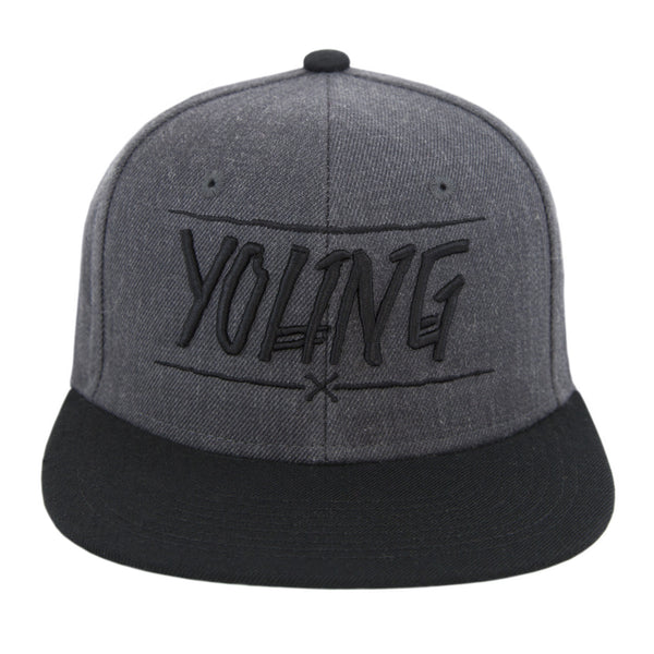 YOUNG BONES SNAPBACK (GREY/BLACK)