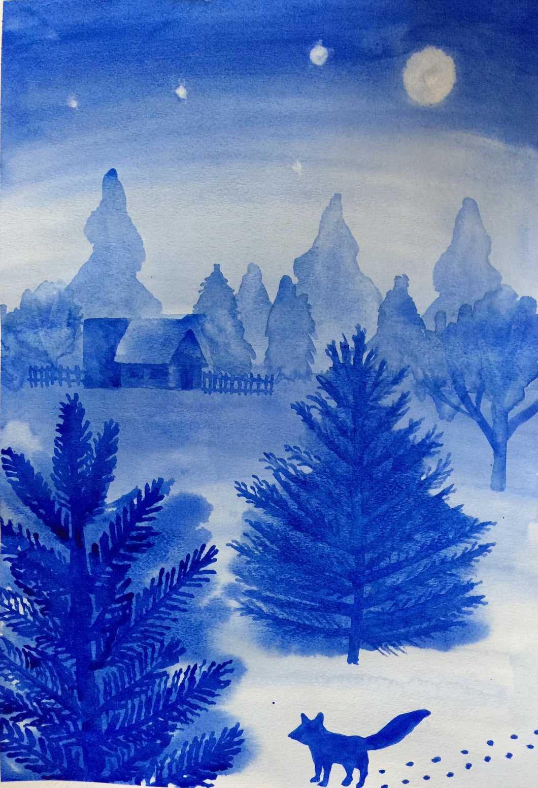 Jan 3th, 6pm-8pm ~ Waldorf Wednesday with Patty Urda, Watercolor Study in Blue