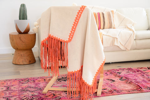 Artisan LEATHER FRINGE throw