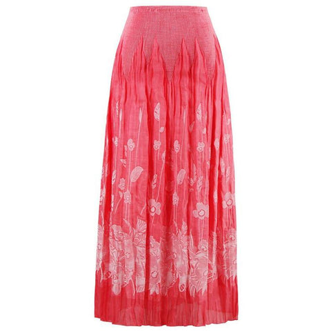 Stretchy Flower Print Skirt One Size Fits Most - Skirts