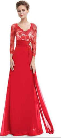 Beautiful Red Evening Gown Size 12 - formal gown