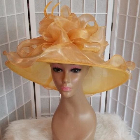 Beautiful Satin Mango Dress Hat - Hat