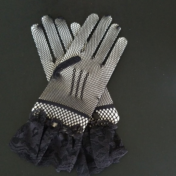 Black Lace Gloves - Gloves