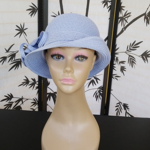 Super Cute Sky Blue Straw hat - Hat