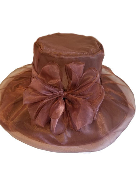 Beautiful Brown Spring Dress Hat - Hat