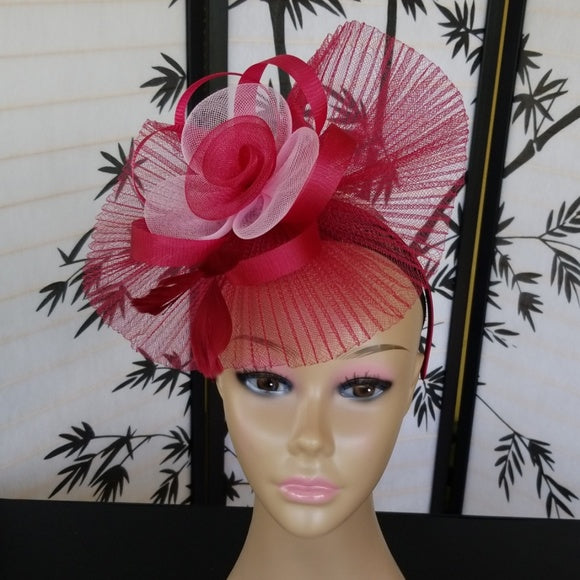 Super Cute Burgundy Fascinator Hat - Fascinator