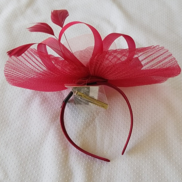 Super Cute Burgundy Fascinator Hat