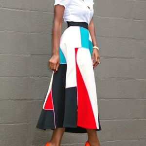 Colorblock high waist maxi skirt - Skirts
