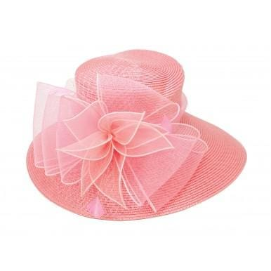 Coral Big Brim Dress Hat - Hat