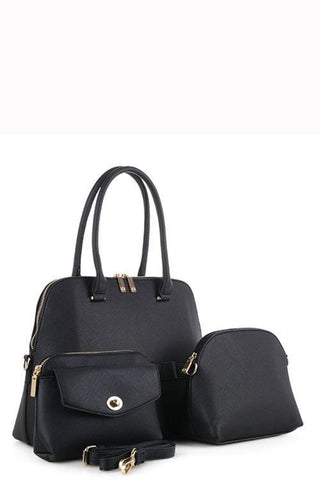 Designer 3 In 1 Tote Bag Set - Purses and Handbags