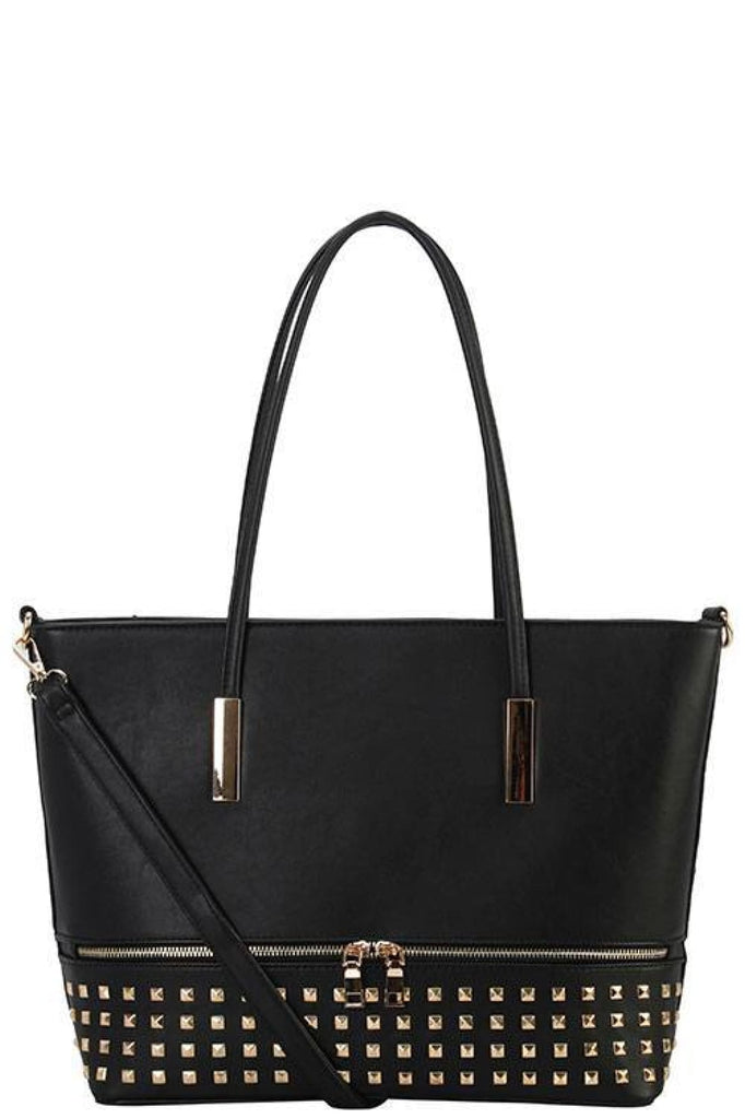 Designer Studded Tote Bag - Purses and Handbags