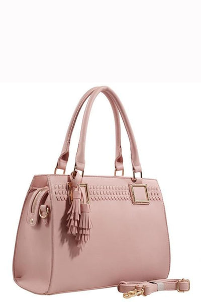Designer Tote Bag With Tassel - Purses and Handbags