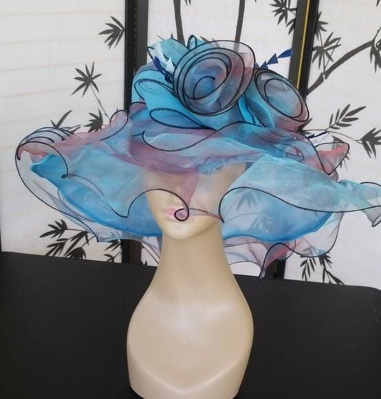 Exquisite Turquoise Dress Hat - Hat