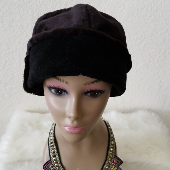 Brown Pullover Fur Hat for Women - Resale