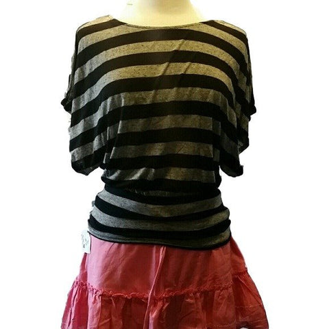 Women's Black and grey top band drop down waist - Tops and Blouses-Exclusively You Fashions - 4
