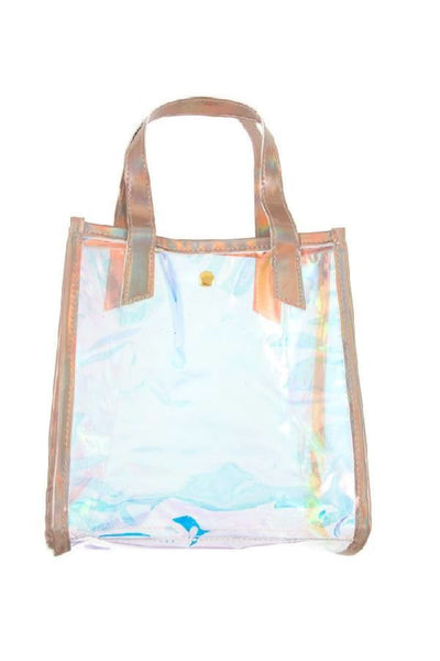 Holographic see through mini tote - Purses and Handbags