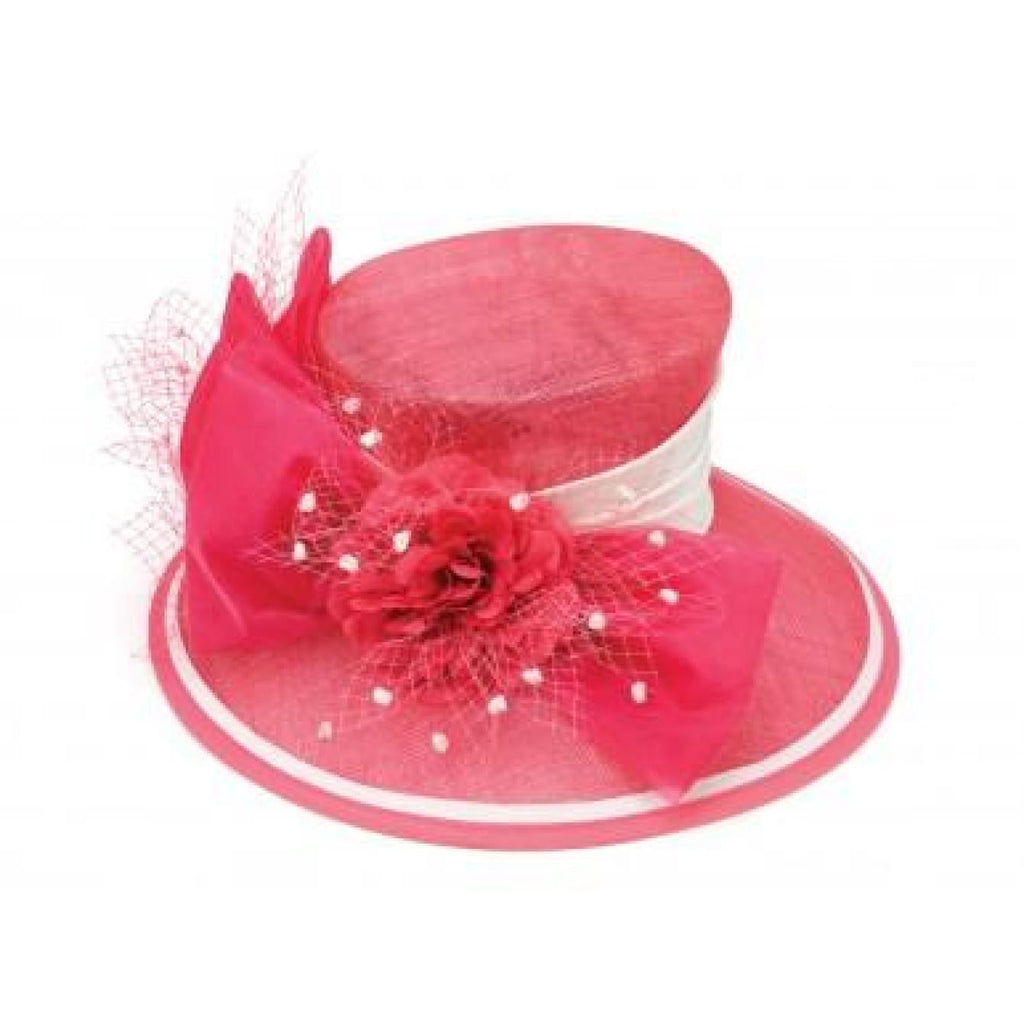 Hot Pink Dress Church Hat - Hat