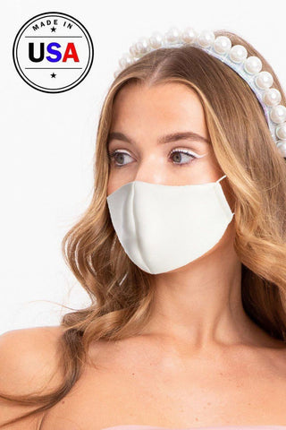 Made In Usa 3d Reusable Water Resistant Face Mask - White
