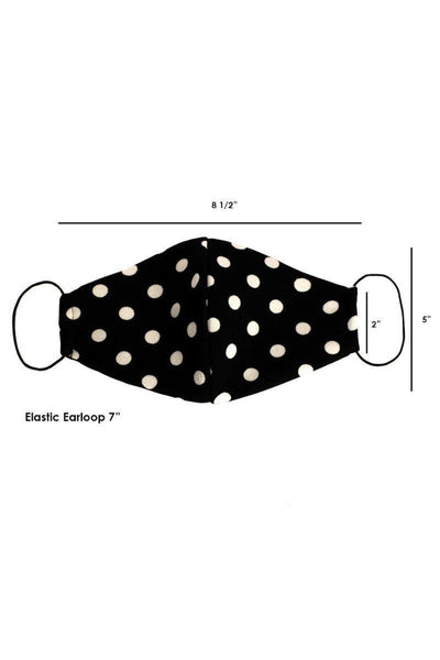Made In Usa Fashionable 3d Reusable Face Mask - Black/White - Face Mask