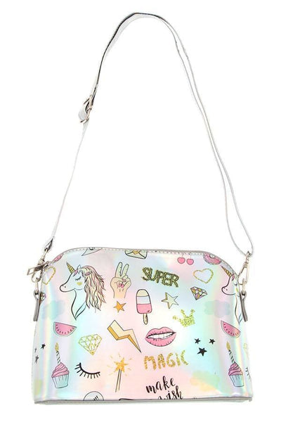 Magical print metallic dome crossbody bag - Purses and Handbags