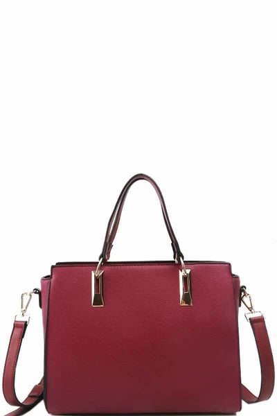 Modern Chic Stylish Satchel With Long Strap - Purses and Handbags