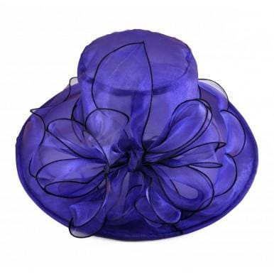 Organza Dress hat in Purple Black and Gold - Purple - Hat