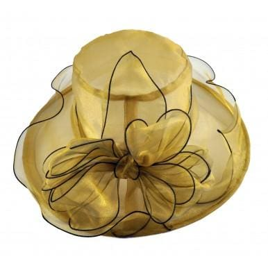 Organza Dress hat in Purple Black and Gold - Gold - Hat
