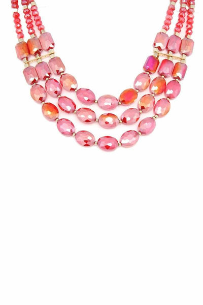 Oval Bead Multi Strand Necklace - jewelry